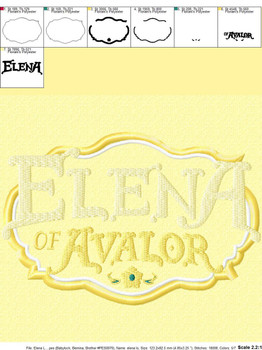 Eleena Of Avalor Logo Applique Design