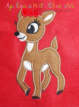Rudy Clary Reindeer Applique Design