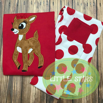 Rudy Clary Reindeer Applique Design
