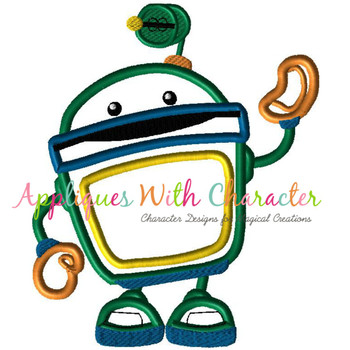 Umizoomi Bot Applique Design