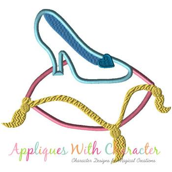 Cindy Glass Slipper Applique Design