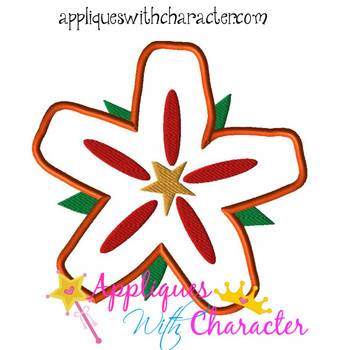 Island Flower Applique Design