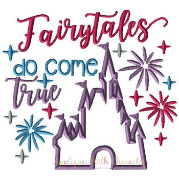 Fairytales Do Come True Castle Applique Design