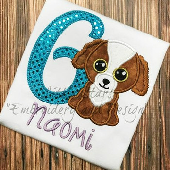 Beanie Dog Tala  Applique Design