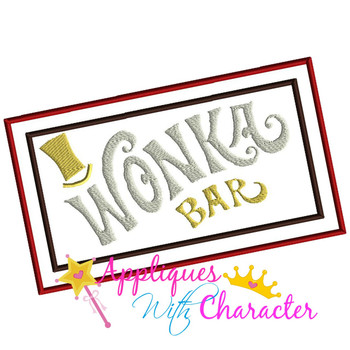 Willie Wonky Bar Applique Design