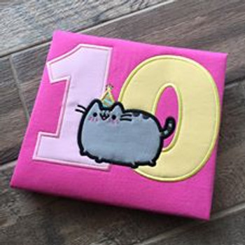 Pusheen Cat Applique Design