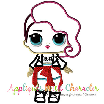Rocker Doll Applique Design