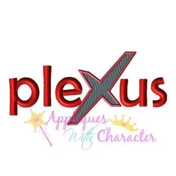 Plexus Logo Filled X Applique Design