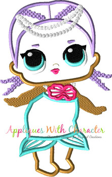 Mermaid Doll Applique Design