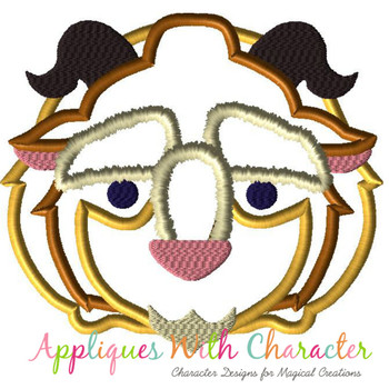 Beauty Beast Tsum Tsum Applique Design
