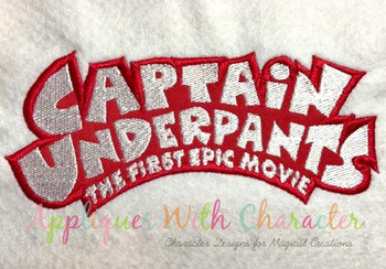 Captain Underwear Logo Applique Design