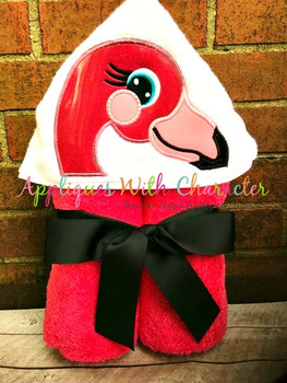 Flamingo Peeker Applique Design