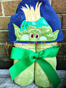 Peeker Prince Troll Movie Applique Design