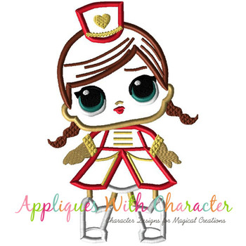 Majorette Doll Applique Design