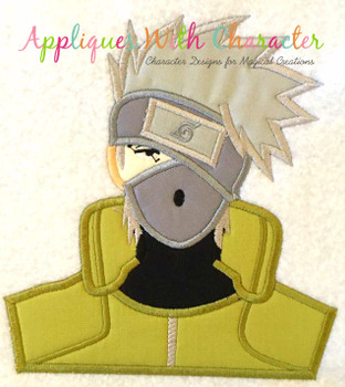 Ninja Bust Applique Design