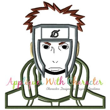 Ninja Boy Applique Design