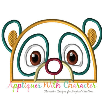 Oso Bear Peeker Applique Design