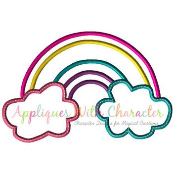 Rainbow Applique Design
