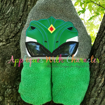 Hero Ranger Green Fighter Peeker Applique Design