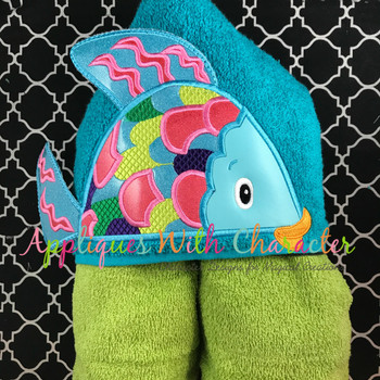 Colorful Fish 3D Peeker Applique Design