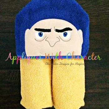Grumpy Villain Peeker Applique Design