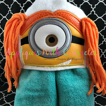 Yellow Girl 3D Peeker Applique Design
