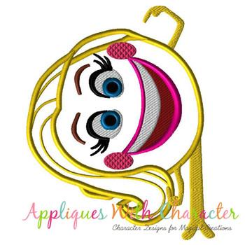 Emoji Movie Smile Applique Design