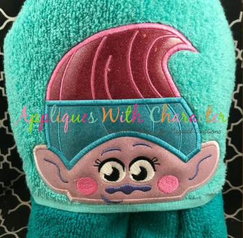 Twin Troll 2 Peeker Applique Design