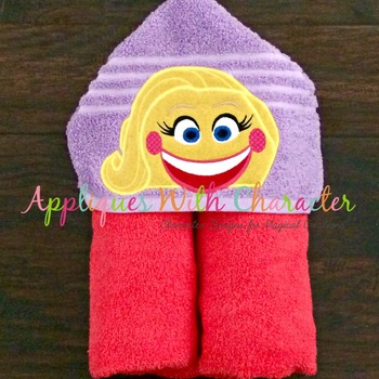 Emoji Smiley Peeker Applique Design