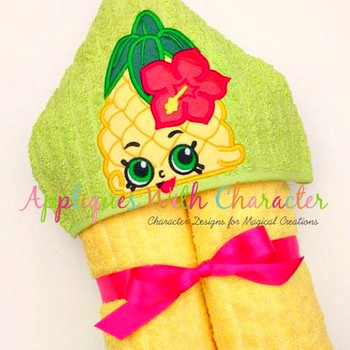Shopikin Pineapple Peeker Applique Design