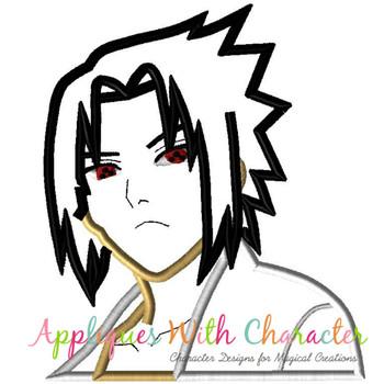 Boy Ninja Applique Design