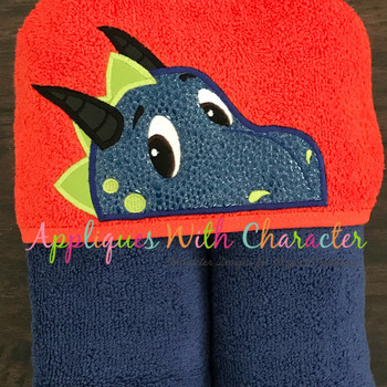 Dragon Peeker Applique Design