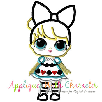Alice Doll Applique Design