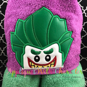 Joker Block Peeker Applique Design