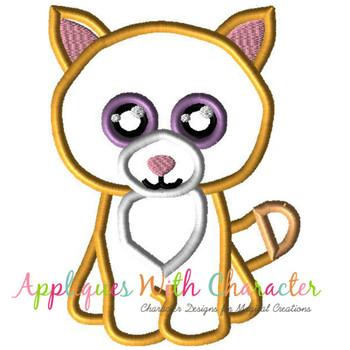 Beanie Tabby Cat Applique Design