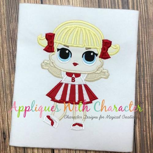 Cheer Doll Applique Design