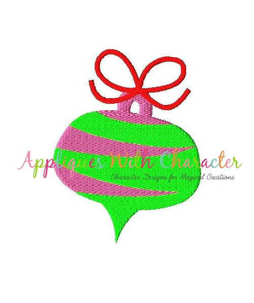 Christmas Ornament Filled Stitch Embroidery Design