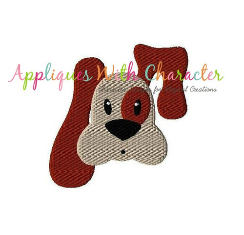 Dog Filled Stitch Embroidery Design