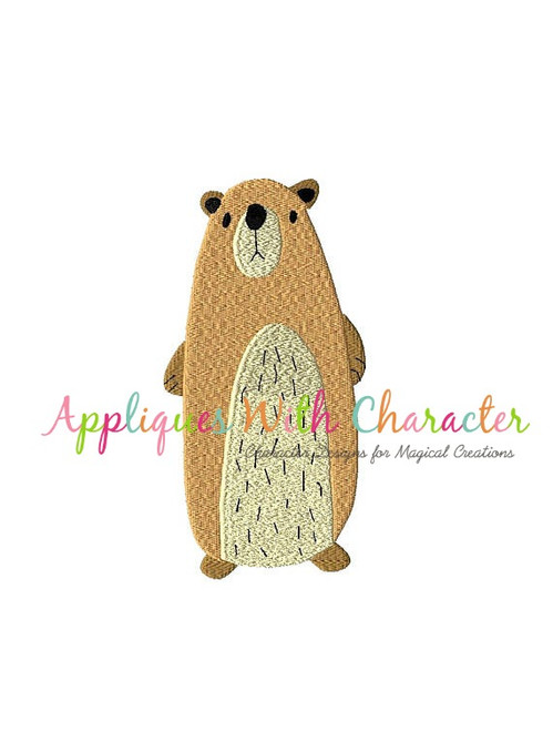 Bear Filled Stitch Embroidery Design