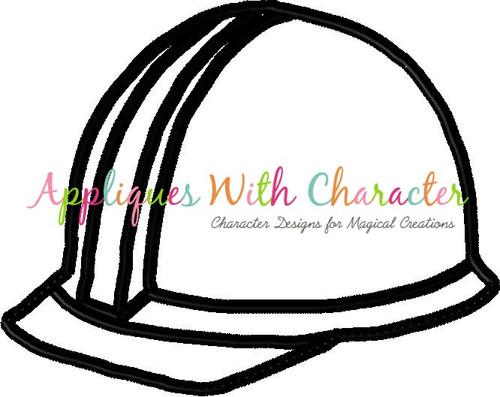 Construction Hat Peeker Applique Design