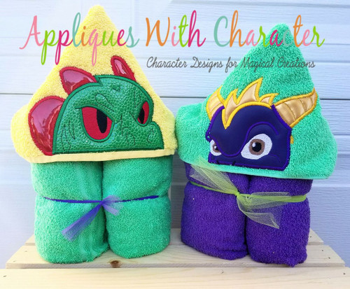 Dino and Spye Peeker Applique Design Set from Skylanders