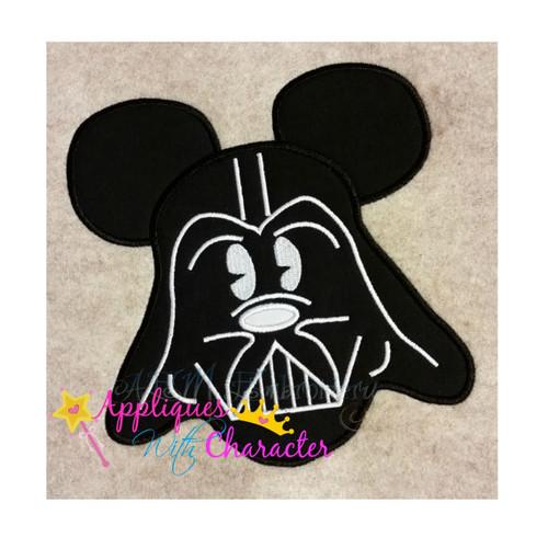 Mr Mouse Darth Vader Applique Design
