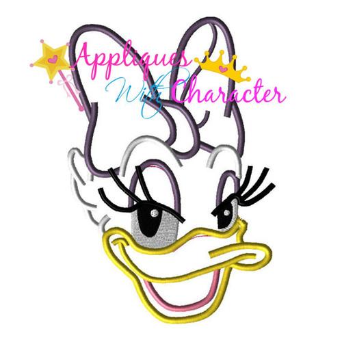 Daizy Duck Face  Applique Design