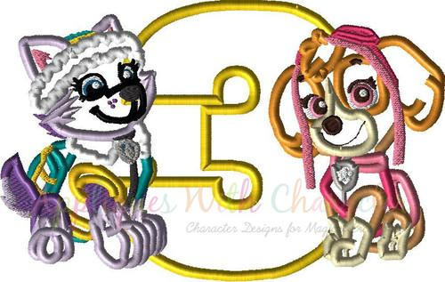 Pup Patrol Skye Ever Three Applique Design