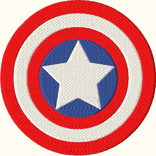 America Hero Filled Stitch Embroidery Design