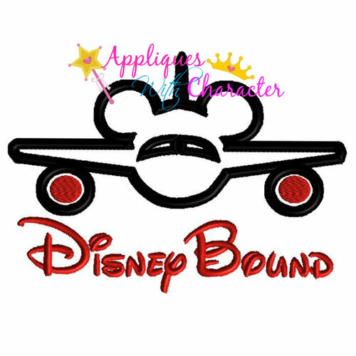 Disney Bound Mr Mouse Airplane Saying  Applique Design