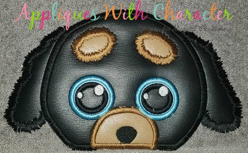 Beanie Boo Doggy Peeker Applique Design