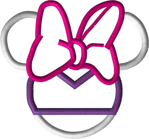 Daizy Miss Mouse Head Applique Design
