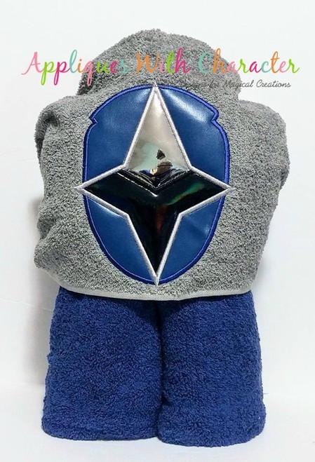 Ninja Blue Helmet Applique Design