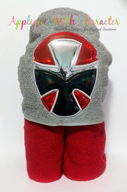 Ninja Red Helmet Applique Design